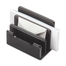 ROL 62525 Rolodex Black Wood Mini Sorter ROL62525