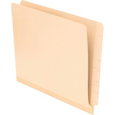 """Pendaflex Laminated Spine End Tab Folders - Letter - 8 1/2"""" x 11"""" Sheet Size - 11 pt. Folder Thickness - Poly - Manila - Recycled - 100 / Box"""