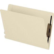 "Pendaflex Letter Recycled End Tab File Folder - 8 1/2"" x 11"" - 3/4"" Expansion - 2 Fastener(s) - 2"" Fastener Capacity for Folder - Manila - 10% - 50 / Box"