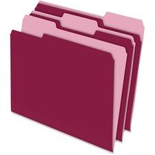 PFX 15213BUR Pendaflex Two-tone Color File Folders PFX15213BUR