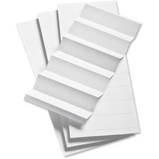 Pendaflex 1/3 Cut Hanging File Insert Strips - Blank Tab(s) - 3 Tab(s)/Set - White Tab(s)