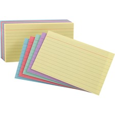 OXF 34610 Oxford Ruled Rainbow Pack Index Cards OXF34610