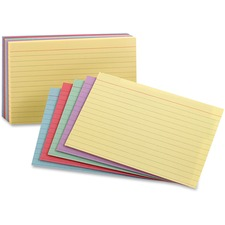 OXF 40280 Oxford Color Pack Index Cards OXF40280
