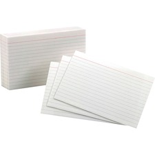 OXF 41 Oxford Top Quality Ruled Index Cards OXF41