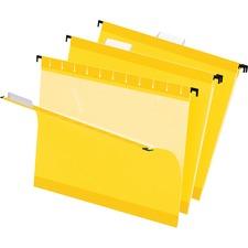 PFX 415215YEL Pendaflex Reinforced Hanging Folders PFX415215YEL