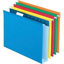 PFX4152X2ASST - Pendaflex Box Bottom Colored Hanging Folders