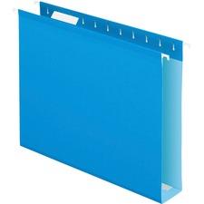 PFX 4152X2BLU Pendaflex Box Bottom Colored Hanging Folders PFX4152X2BLU