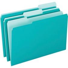 PFX 421013AQU Pendaflex 1/3-cut Tab Color-coded Interior Folders PFX421013AQU