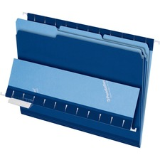 PFX 421013NAV Pendaflex 1/3-cut Tab Color-coded Interior Folders PFX421013NAV