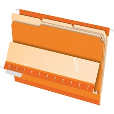 PFX 421013ORA Pendaflex 1/3-cut Tab Color-coded Interior Folders PFX421013ORA