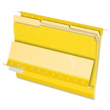 PFX 421013YEL Pendaflex 1/3-cut Tab Color-coded Interior Folders PFX421013YEL