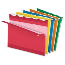"Pendaflex Ready-Tab 1/5 Tab Cut Letter Recycled Hanging Folder - 8 1/2"" x 11"" - Assorted - 10% Recycled"