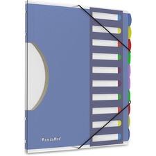 "Pendaflex Translucent Poly Project Sorter - 10 x Divider(s) - 10 Tab(s) - 8.50"" Divider Width x 11"" Divider Length - Letter - Multicolor Divider - 1 Each"