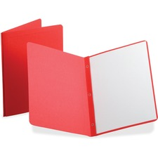 """Oxford Letter Recycled Report Cover - 1/2"""" Folder Capacity - 8 1/2"""" x 11"""" - Leatherette - Red - 10% Recycled - 25 / Box"""