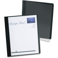 """Oxford Letter Recycled Report Cover - 8 1/2"""" x 11"""" - 100 Sheet Capacity - 3 Fastener(s) - 1/2"""" Fastener Capacity for Folder - Clear - 10% Recycled - 1 Each"""