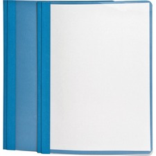 "Oxford Letter Recycled Report Cover - 8 1/2"" x 11"" - 3 x Tang Fastener(s) - 1/2"" Fastener Capacity for Folder - Light Blue - 1 Each"