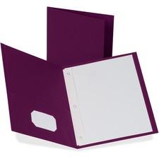 OXF 57757 Oxford Twin Pocket 3-hole Fastener Folders  OXF57757