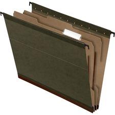 PFX 59254 Pendaflex SureHook 2-Div Green Hanging Folders PFX59254