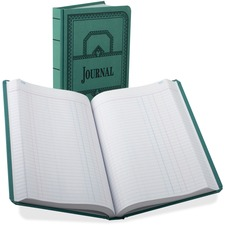 BOR 66500J Boorum 66 Series Blue Canvas Journal Book BOR66500J