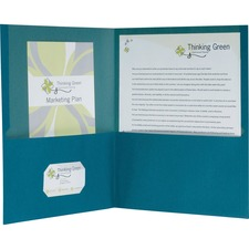 "Pendaflex Oxford Letter Recycled Pocket Folder - 8 1/2"" x 11"" - 100 Sheet Capacity - 2 Pocket(s) - Blue - 100% Recycled - 1 / Box"
