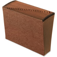 """Pendaflex Letter Recycled Expanding File - 8 1/2"""" x 11"""" - 21 Pocket(s) - Red Fiber - 30% Recycled - 1 Each"""