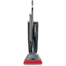 "Sanitaire Commercial Upright Vacuum - 600 W Motor - 17.03 L - Bagged - 12"" (304.80 mm) Cleaning Width - 30 ft Cable Length - 3398 L/min - 5 A - 78 dB Noise - Red"