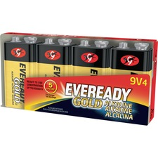 EVE A5224 Energizer Eveready Gold Alkaline 9-Volt Batteries EVEA5224