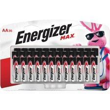 EVE E91SBP36H Energizer Max Alkaline AA Batteries EVEE91SBP36H
