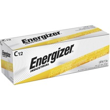 Energizer Industrial Alkaline C Batteries - For Multipurpose - C - 1.5 V DC - 8350 mAh - Alkaline - 12 / Box