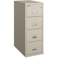 "FireKing Insulated File Cabinet - 20.8"" x 31.5"" x 52.8"" - 4 x Drawer(s) for File - Legal - Vertical - Fire Resistant - Parchment - Powder Coated - Gypsum"