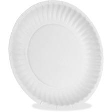 DXE 709902WNP9 Dixie Foods Uncoated Economical Paper Plates DXE709902WNP9