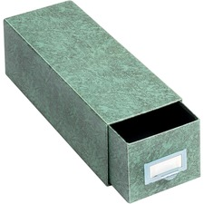 GLW 35CGRE Globe Weis Agate Index Card Storage Drawers GLW35CGRE