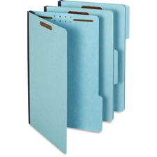 """Pendaflex 1/3 Tab Cut Legal Recycled Classification Folder - 8 1/2"""" x 14"""" - 1"""" Expansion - 2 Fastener(s) - 2"""" Fastener Capacity for Folder - Top Tab Location - Assorted Position Tab Position - Pressboard - Blue - 60% Recycled"""