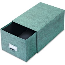 GLW 69CGRE Globe Weis Agate Index Card Storage Drawers GLW69CGRE