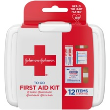 JOJ 8295 J & J 12-piece Mini First Aid Kit JOJ8295
