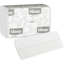 """Kleenex C-Fold Towels - 10.1"""" x 13.3"""" - White - Soft, Absorbent - 150 Sheets Per Pack - 2400 / Carton"""
