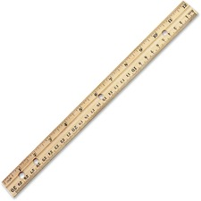 "LEO 77120 Charles Leonard Metal Edge 12"" Wood Ruler LEO77120"