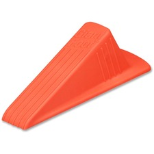"Master Mfg. Co. Giant Foot® Doorstop, Orange - Giant Foot® Doorstop, 6-3/4"" x 3-1/2"" x 2"", Orange, 1/Pack"