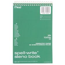 MEA 43080 Mead Spell-Write Steno Book MEA43080