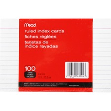 MEA 63004 Mead 90 lb Stock Index Cards MEA63004