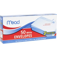 MEA 75024 Mead Plain White Self-Seal Business Envelopes MEA75024