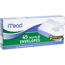 MEA 75026 Mead Press-it Seal-it No. 10 Security Envelopes MEA75026