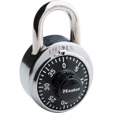 "Master Lock Combination Lock - 3 Digit - 0.28"" (7.11 mm) Shackle Diameter - Cut Resistant, Rust Resistant - Steel Body, Steel Shackle - Silver - 1 Each"