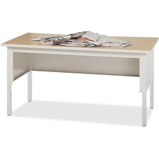 "Mayline Mailflow-To-Go Sorting Table - 60"" x 30"" x 36"" - 1 Shelve(s) - Material: Steel Leg - Finish: Chrome, Gray"