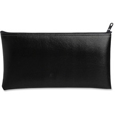 "MMF Zipper Top Wallet Bags - 11"" (279.40 mm) Width x 6"" (152.40 mm) Length x 16 mil (406 Micron) Thickness - Black - Vinyl - 1Each - Multipurpose"