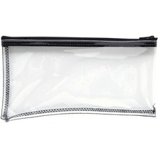 "MMF Clear View Vinyl Zipper Bag - 11"" (279.40 mm) Width x 6"" (152.40 mm) Length - Clear - Vinyl - 1Each - Multipurpose"