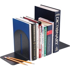 "MMF Fashion Steel Bookends - 7"" Height x 6"" Width x 5"" Depth - Desktop - Non-skid Base - Granite - Steel - 2 / Pair"