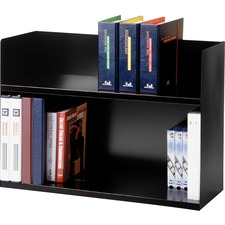 MMF 26423BRBK MMF Industries Two-Tier Book Rack MMF26423BRBK