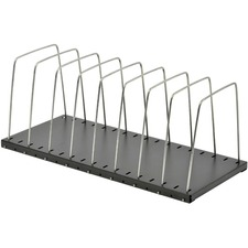 "MMF Adjustable Easy-File Wire Rack - 8 Compartment(s) - 2"" (50.80 mm) - 8.1"" Height x 7.8"" Width x 18.4"" Depth - Desktop - Recycled - Black - Steel - 1Each"