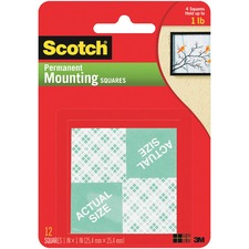 MMM 111 3M Scotch Foam Mounting Squares MMM111